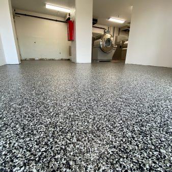 Floor finishing view
